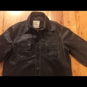 Vintage TG&Y Men's Faux Brown Leather Jacket XL